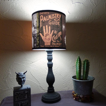 Obscure Fate lamp shade lampshade - lighting, witchcraft, halloween decor, boho,bohemian decor,fortune teller,spiritualism,palmistry reading