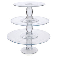 3-Pc Stacking Dessert Stand, Cake Stands & Tiered Trays
