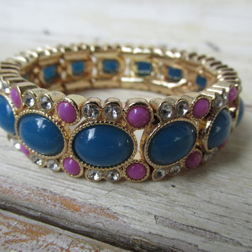 J Crew Purple And Blue And Gold Bracelet (J. Crew)