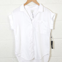 Count on Me Button Up Top, White