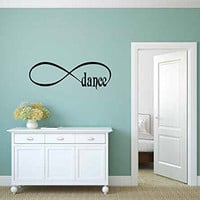 Infinity Sign Symbol Dance Vinyl Wall Words Decal Sticker Graphic