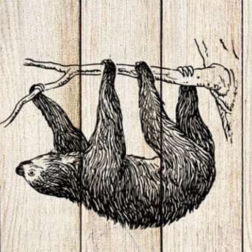 Sloth Temporary Tattoo