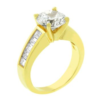 Classic Baguette Gold Anniversary Ring Size 9