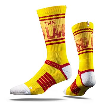 Strideline 2.0 The Land Yellow Cleveland City Gold Red Crew Socks