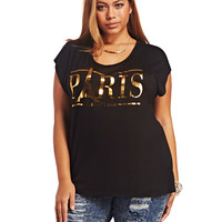 Paris Lace-Back Tee | Wet Seal+