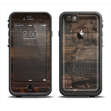 The Dark Wooden Worn Planks Apple iPhone 6 LifeProof Fre Case Skin Set