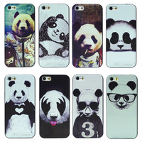 8 Kinds of Styles Super Cute Panda Case For iPhone 5 5S