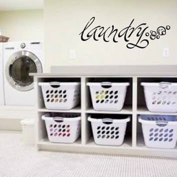 Laundry Vinyl Wall Words Decal Sticker Graphic