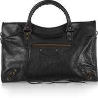 Balenciaga - City Classic textured-leather tote