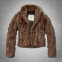Kylie Vegan Fur Coat