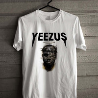 Yeezus Kanye West Head Paintingg 123 Shirt For Man And Woman / Tshirt / Custom Shirt