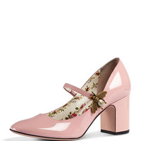 Gucci Lois Mary Jane Bee Patent Pump