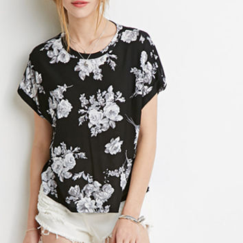 Boxy Floral Print Tee