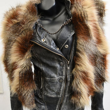 Fake Fur Cape - Rockstar Clothing - Faux Fur  by Luv Warrior
