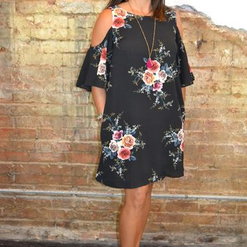 Date Night Floral Print Dress