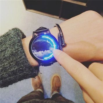 Women couple watch  watches students clock hour