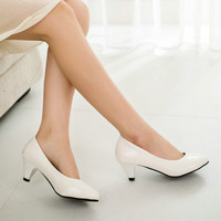 Single Shoes Platform High-Heeled Shoes Women's Pumps White & Black Work Shoes Red Bridal ShoesNew 2015