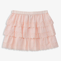 Ruffled Laser-Cut Skirt