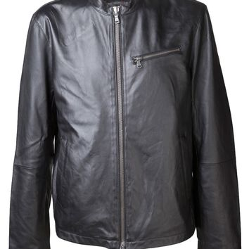 John Varvatos Star Usa Zip Lambskin Jacket