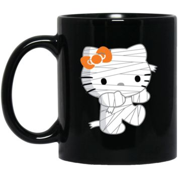 zombie hello kitty at halloween-01 BM11OZ 11 oz. Black Mug
