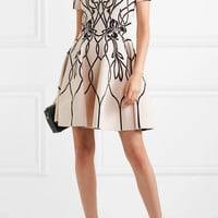 Alexander McQueen - Jacquard-knit mini dress