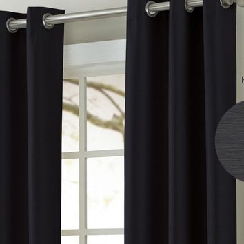 Textured Black Out Curtains (Colors)