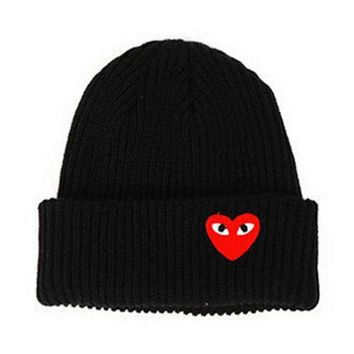 Winter woman warm hats Heart Eyes Cartoon Label Beanies Knit Hat Toucas Bonnet Hats man hat Crochet Cap Skullies Gorros