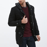 Hooded Wool-Blend Duffel Coat