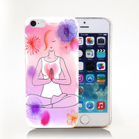 YOGA_WOMENS_HEALTH Hard Transparent Cover Case for iPhone 4 4s 5 5s 5c 6 6s Phone Cases Protect