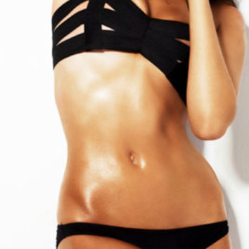 Bandage swimsuit/ bathing suit as seen in GQ, two piece, bandage swimwear