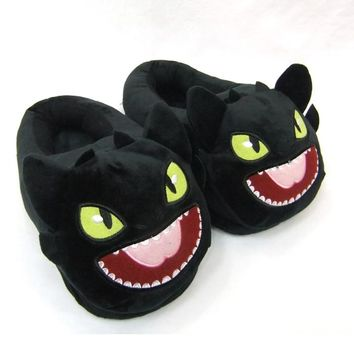 How to Train Your Dragon Plush Toothless Nightfury Slippers