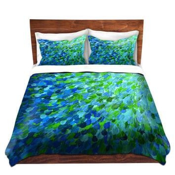 BEACHY Fine Art Duvet Covers, King Queen Twin Size Whimsical Home Decor  Ombre Bedding Ocean