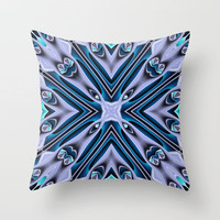 Blue & Silver Throw Pillow by Mr D's Abstract Adventures | Society6