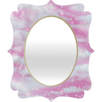 Lisa Argyropoulos Dream Big In Pink Quatrefoil Mirror