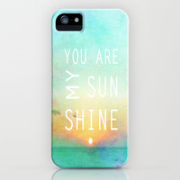 You Are My Sunshine iPhone & iPod Case by Ally Coxon