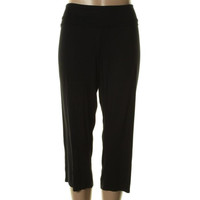 Three Dots Womens Jersey Fold-Over Casual Pants