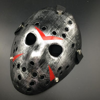 Silver Color New Make Old Cosplay Halloween Mask Jason Voorhees Freddy Hockey Festival Party Halloween Masquerade Mask 1 Piece