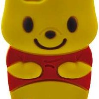 LliVEER 3D Cartoon Super Adorable Winnie the Pooh Pattern Design Soft Silicone Case Cover Protective Skin for Apple iPod Touch 5 5G 5th