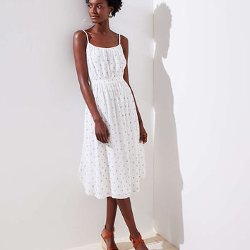 Polka Dot Strappy Dress | LOFT