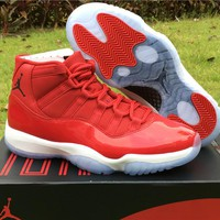 Air Jordan Retro 11 Gym Red High Quality Athletics Original Outdoor Sports Sneakers