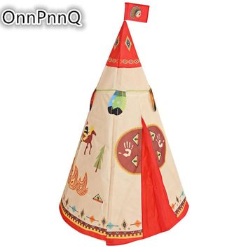 Dream indian house Portable Indoor tipi tent kids enfant indian playhouse Game Tents Children's Giant Teepee