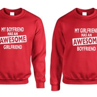 Awesome girlfriend Awesome boyfriend Couple sweater Valentines day