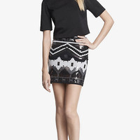 HIGH WAIST SEQUINED MINI SKIRT from EXPRESS
