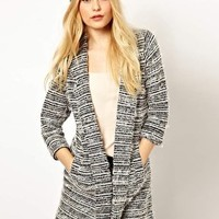 River Island Textured Drape Jacket at asos.com