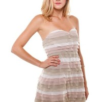 Piece of Cake Dress: Taupe [MD-5391] - $30.00 : Spotted Moth, Chic and sweet clothing and accessories for women