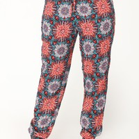 Dream Print Jogger - Green Multi