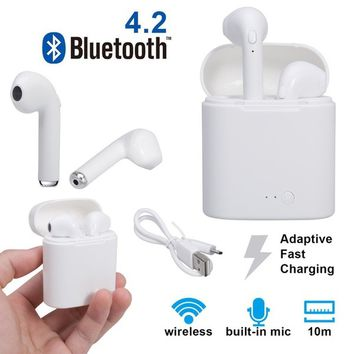 Bluetooth Earbuds,Wireless Headset Cordless Sport Headphones with Portable Charger for Apple Iphone 8, 8 Plus, X, 7, 7 Plus, 6s,