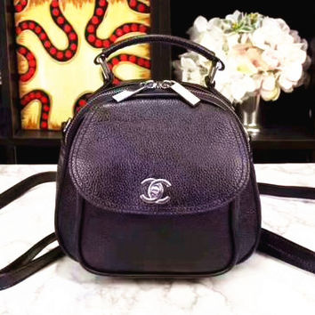 """Chanel"" women shopping Backpack  bag female inclined Backpack bag black  Backpack G-3A-XNRSSNB"