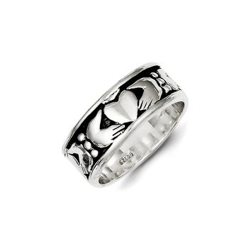 Claddagh Ring in 925 Sterling Silver - 8 Mm