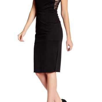 V-Neck Side Cut-Out Bodycon Dress FW0671